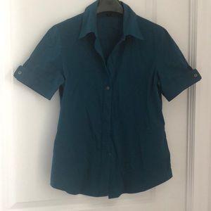 Theory poplin short sleeve shirt- medium